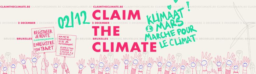 2 décembre marche pour le climat à la gare du nord